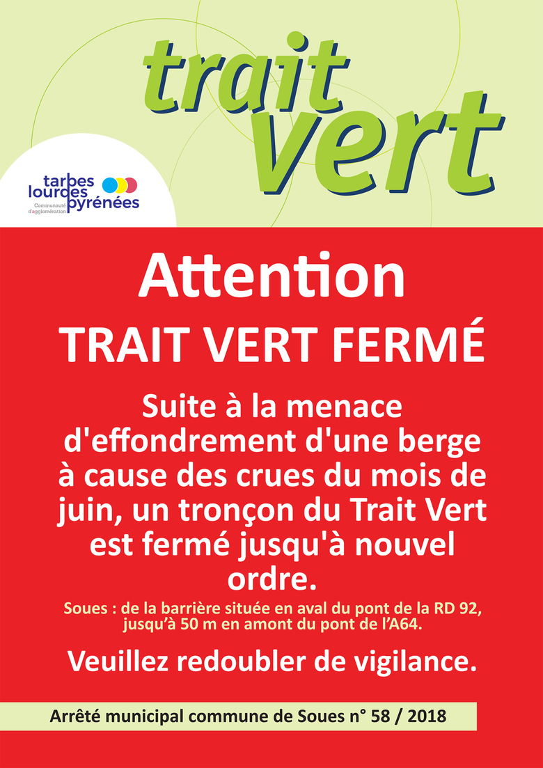 Soues : portion du Trait Vert fermée