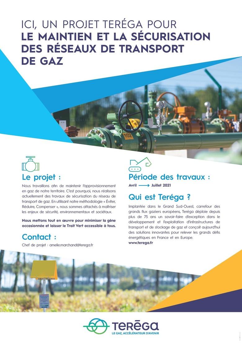 [SOUES / SALLES ADOUR] Travaux de maintien et sécurisation des réseaux de transport de gaz