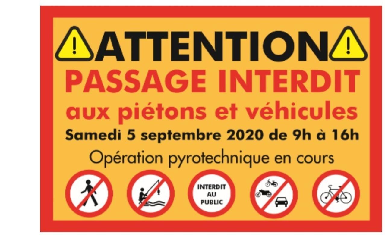 CaminAdour : Opération de « pétardement » du 5 septembre 2020