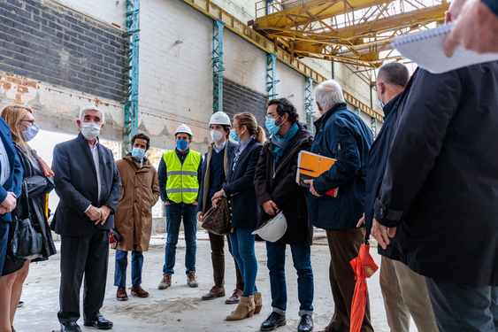 Visite de chantier à l'Usine des Sports