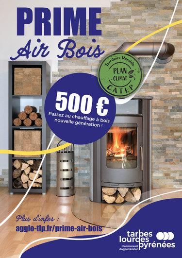 Une aide financière d'un montant de 500 euros pour passer au chauffage à bois nouvelle génération