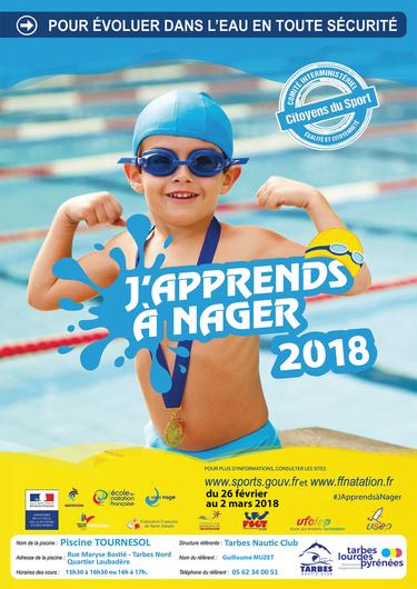 """J'apprends à nager 2018"""