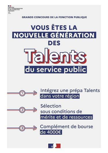 Ouverture d'une classe préparatoire à Tarbes dans le cadre du programme Talents du service public