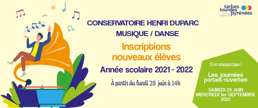 Inscriptions 2021-2022 et Journée Portes Ouvertes
