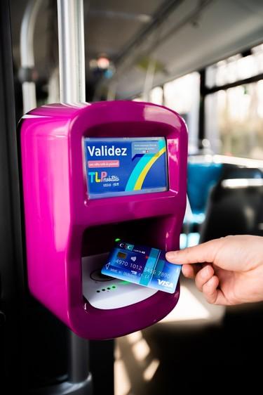 Un service de paiement sans contact innovant dans les transports urbains