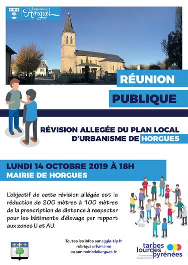 Réunion publique - Projet de PLU d'Horgues