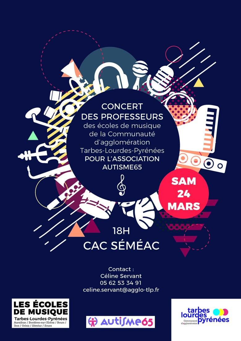 Concert professeur écoles de musique pour l'association Autisme65