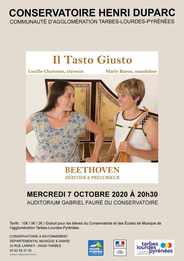 Concert - Il Tasto Giusto : Beethoven, héritier et précurseur