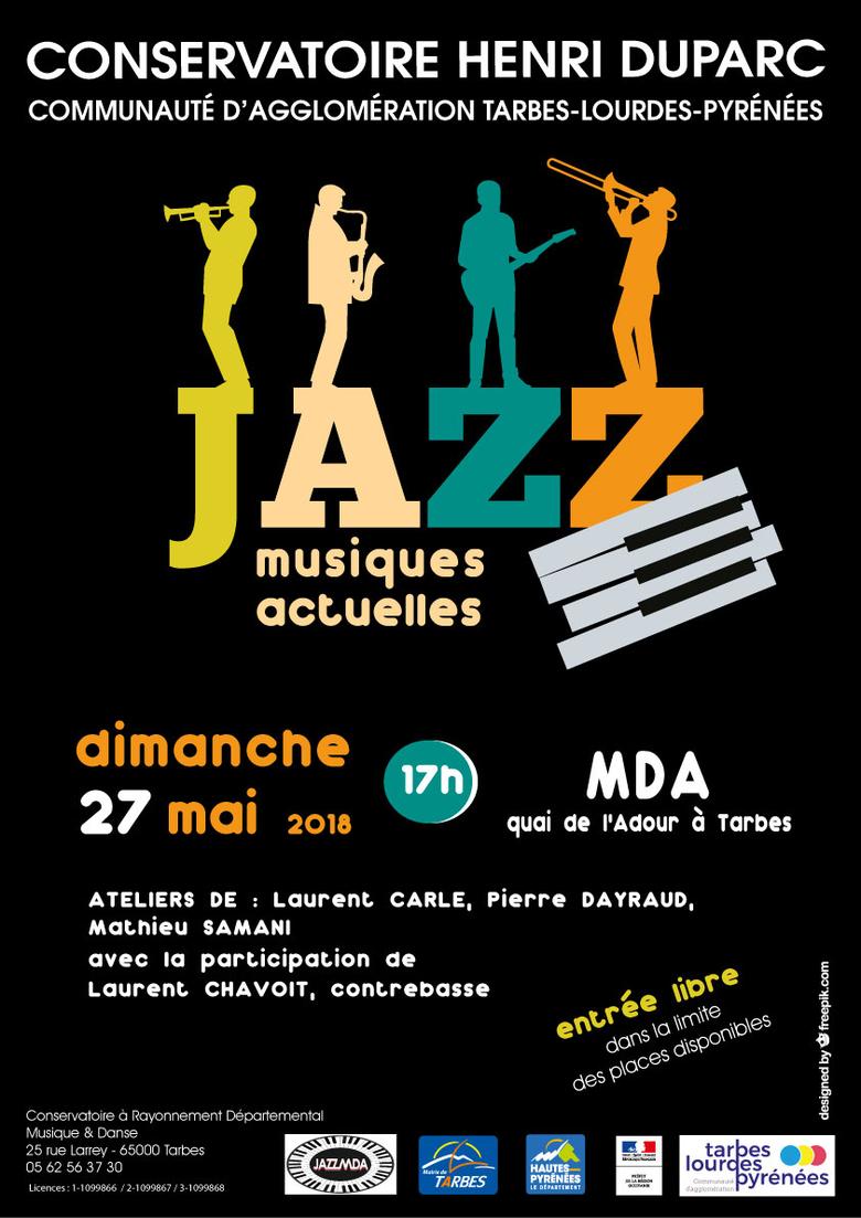 Concert de fin d'année du Département Jazz et Musiques Actuelles du conservatoire