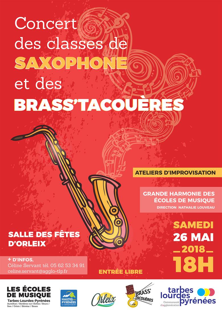 Concert des classes de saxophones et des Brass'Tacoueres