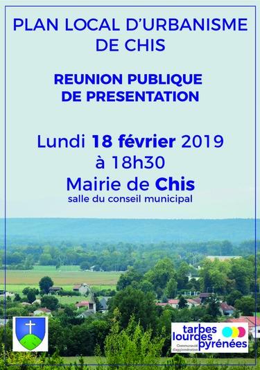 Réunion publique présentation PLU Chis