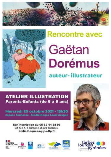 Atelier d'illustration avec Gaëtan Doremus