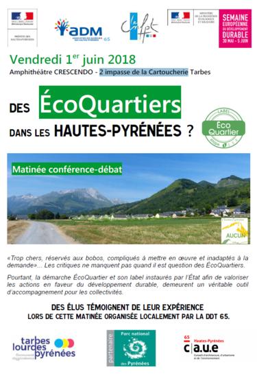 Des EcoQuartiers dans les Hautes-Pyrénées - Conférence Débat