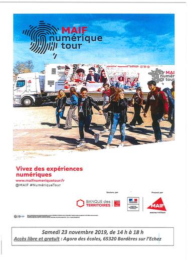 Maif Numérique Tour : Bordères sur l'Echez