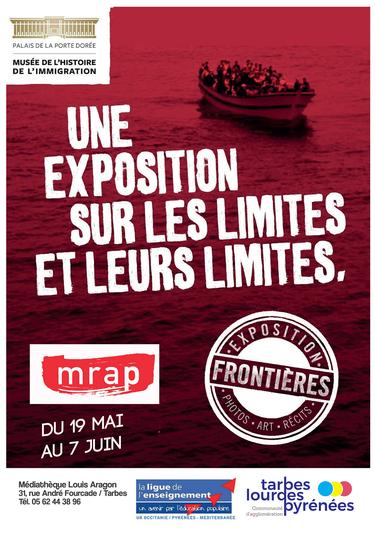 Exposition FRONTIÈRES. La Communauté d'agglomération Tarbes-Lourdes-Pyrénées accueille l'exposition  à la Médiathèque Louis Aragon