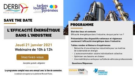 L'efficacité énergétique dans l'industrie - Webinaire