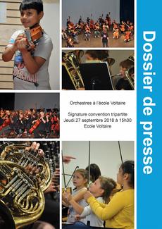 Dossier de presse Signature convention Orchestre à l'École - 27 septembre 15h30